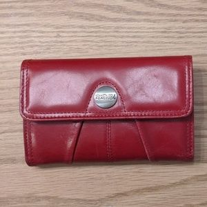 Kenneth Cole Genuine Leather Red Wallet